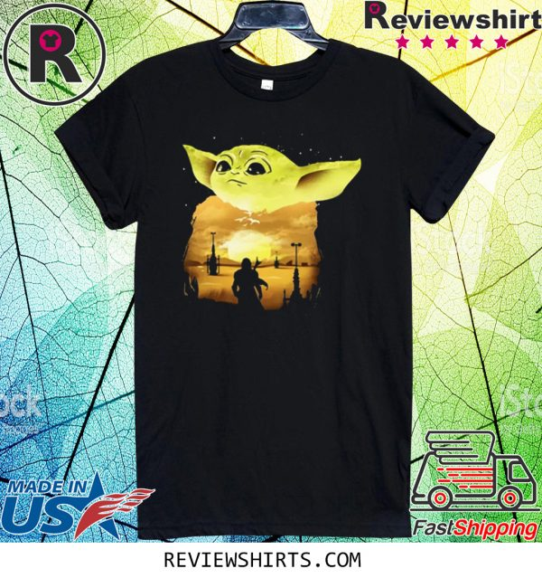 Baby Yoda Sunset T-Shirt