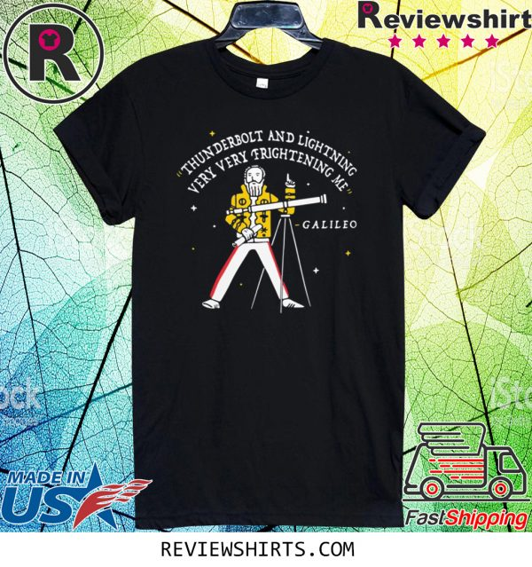 Freddie Mercury Thunderbolt and Lightning Very Very Frightening Me Galileo T-Shirt