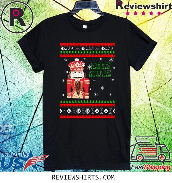 Hand Engraved Nutcracker DEEZ NUTZ Christmas 2020 Tee Shirt
