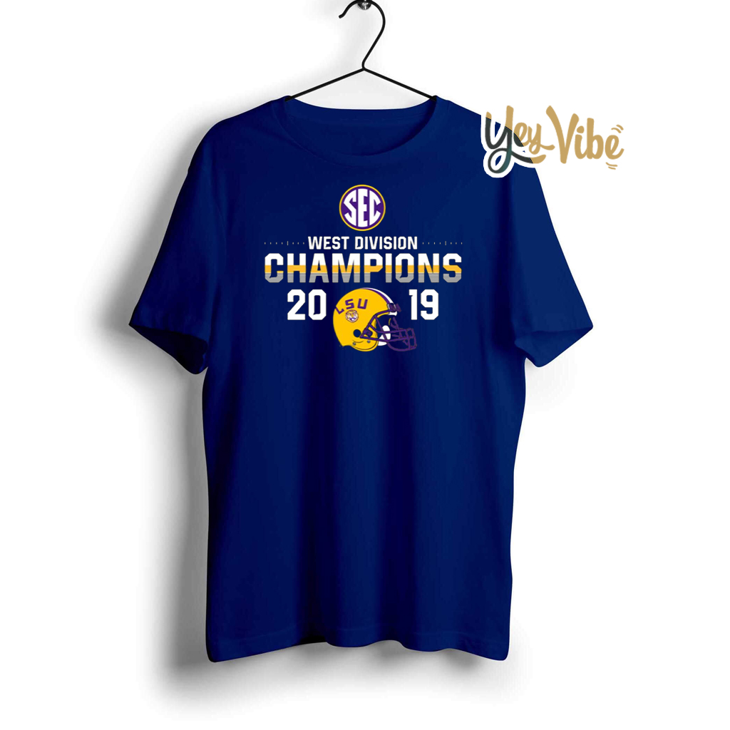 LSU Tigers 2019 SEC West Football Division Champions T Shirts