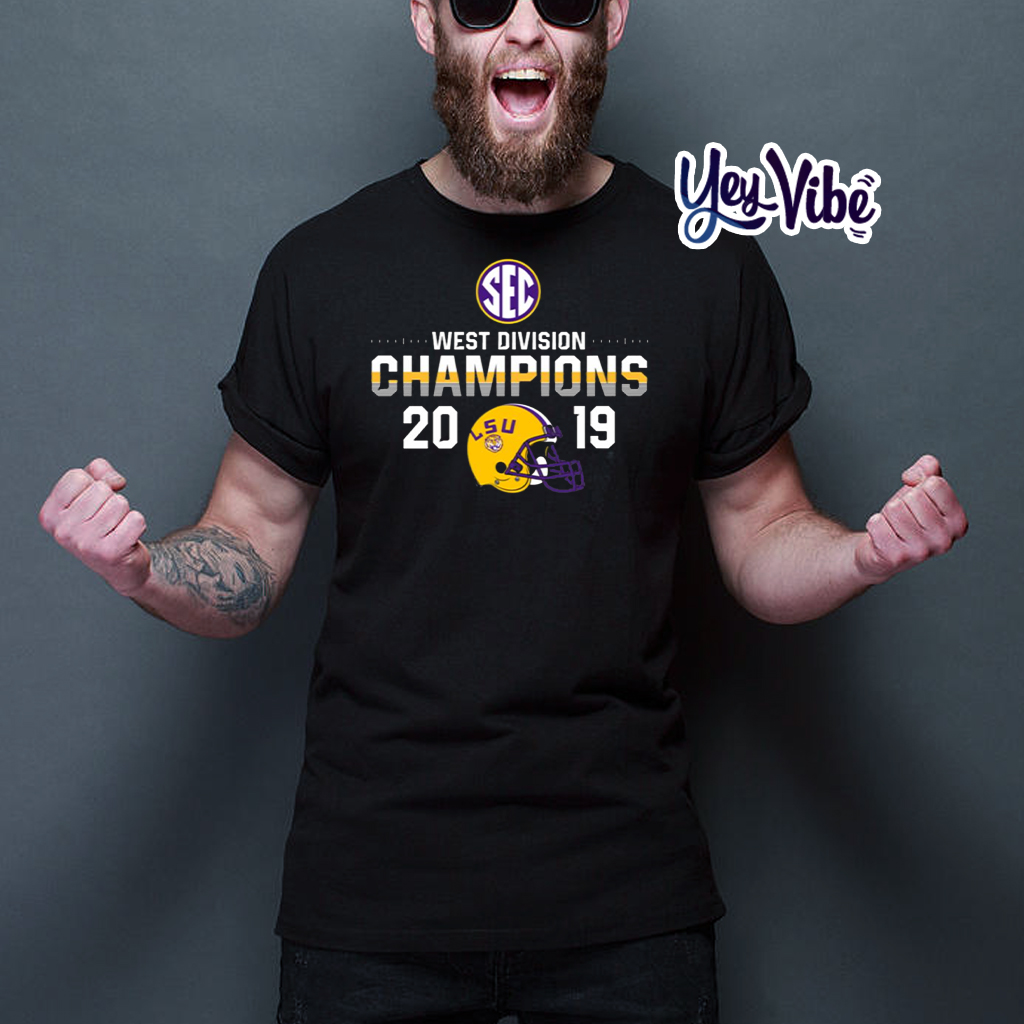 LSU Tigers 2019 SEC West Football Division Champions Tee Shirts
