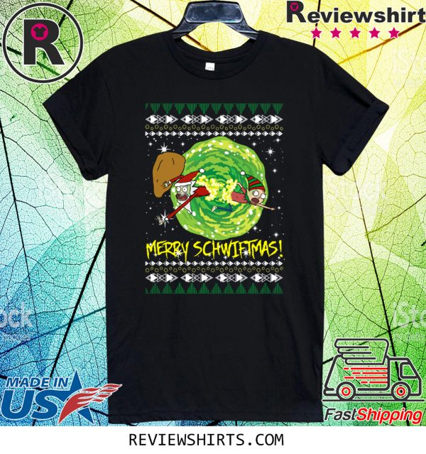 Rick and Morty Santa Claus Ugly Christmas Tee Shirt