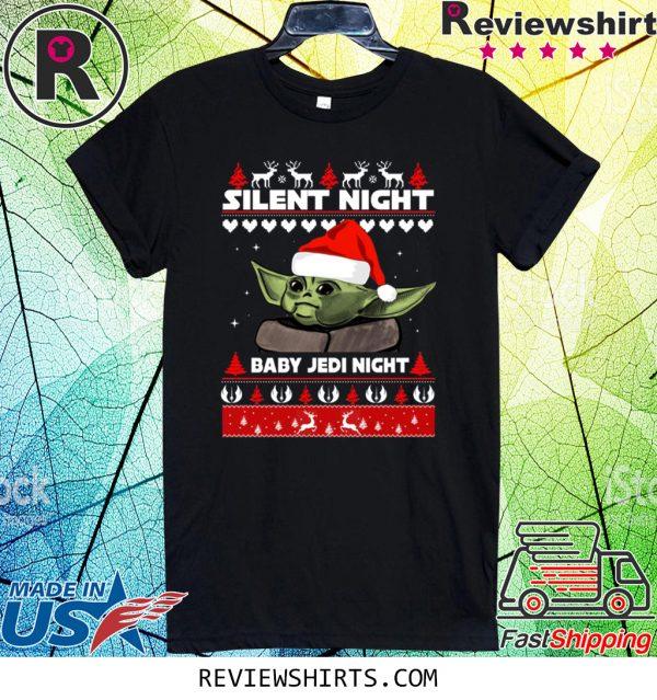 Silent Night Baby YoDa Jedi Night Christmas Xmas T-Shirt