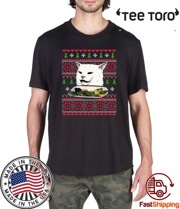 Yelling at a Cat Meme Ugly Christmas 2020 T-Shirt