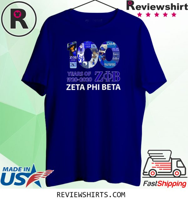100 Years Of 1920 2020 Zeta Phi Beta Tee Shirt