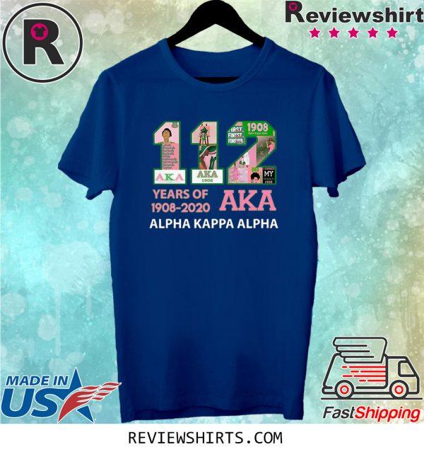 112 Years Of Aka Alpha Kappa Alpha 1908 2020 T-Shirt