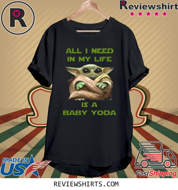 All I Need In My Life Is A Baby Yoda Christmas T-Shirt