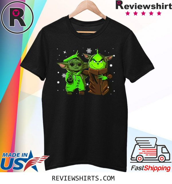 Baby Yoda and Baby Grinch Christmas T-Shirt