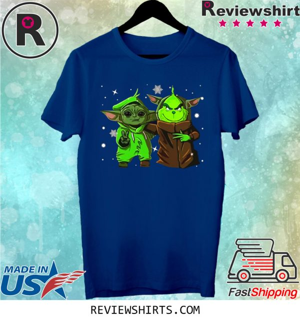 Baby Yoda and Baby Grinch Christmas T Shirt, hoodie