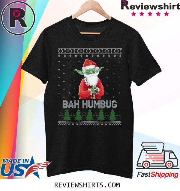 Baby Yoda bah humbug ugly christmas 2020 t-shirt