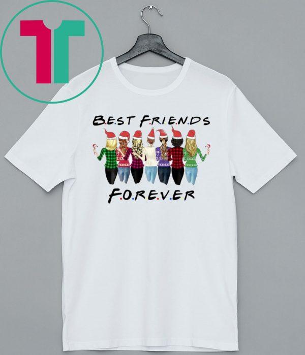 Best Friends Forever Santa Christmas Shirt