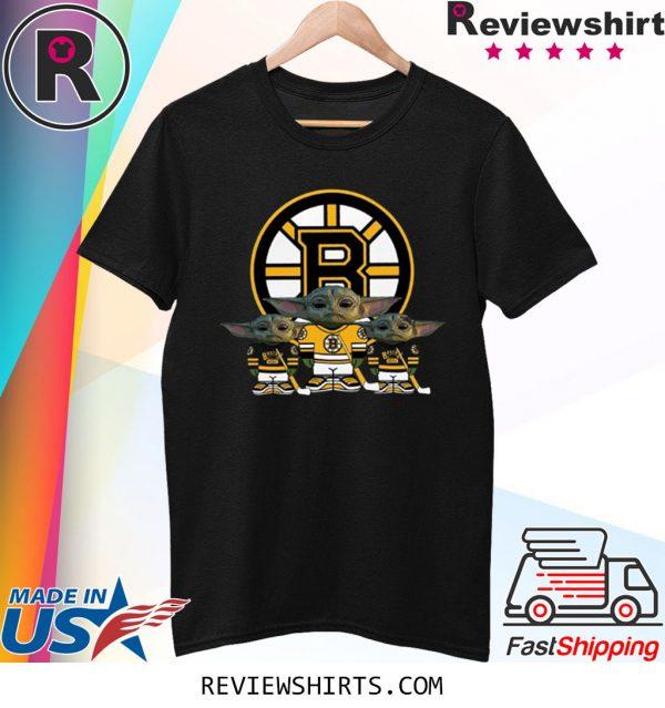 Boston Bruins Logo Baby Yoda Shirt