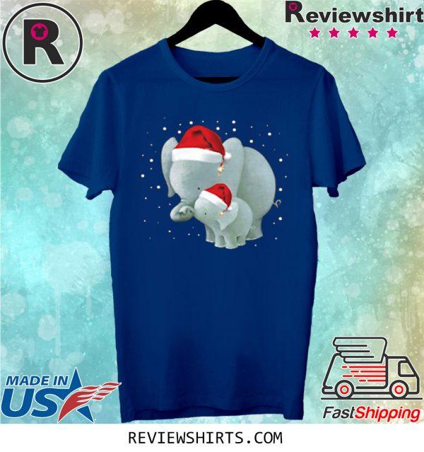 Elephants Mom And Baby Christmas Classic T-Shirt