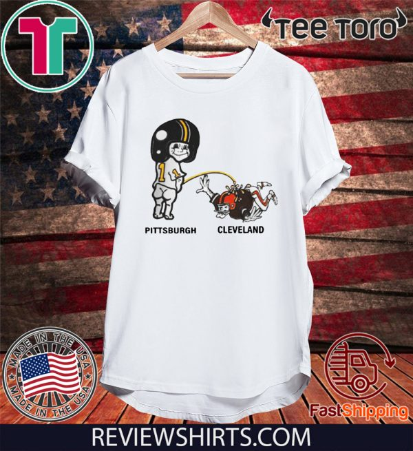 Pittsburch Pee Cleveland Shirt - Piss on Pittsburgh Steelers Pee Cleve T-Shirt