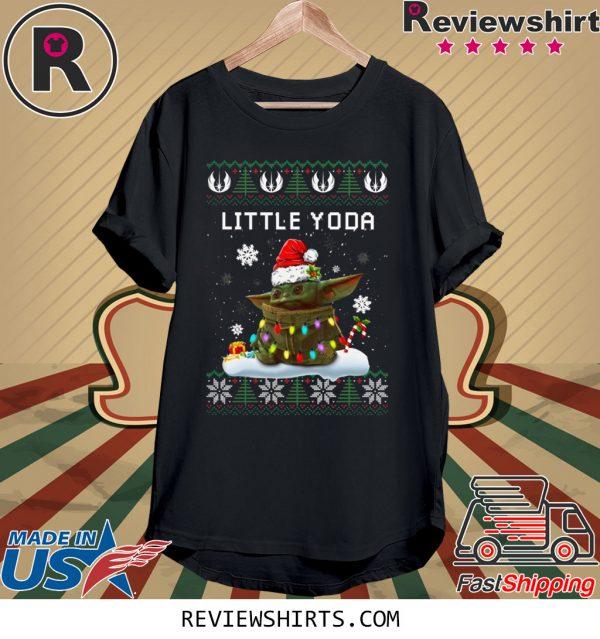 Santa Baby Yoda little Yoda ugly christmas shirt