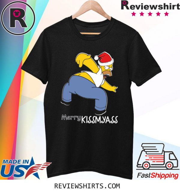 Santa Simpsons Merry Kissmyass Christmas Shirt