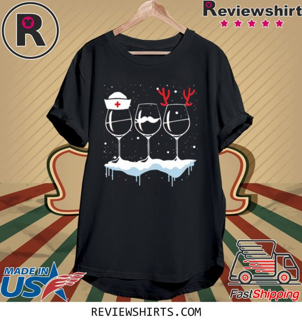 Wine Nurse Christmas Shirt