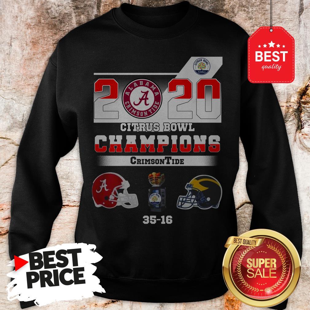 Alabama 2020 Citrus Bowl Champions Crimson Tide 35 16 Sweatshirt