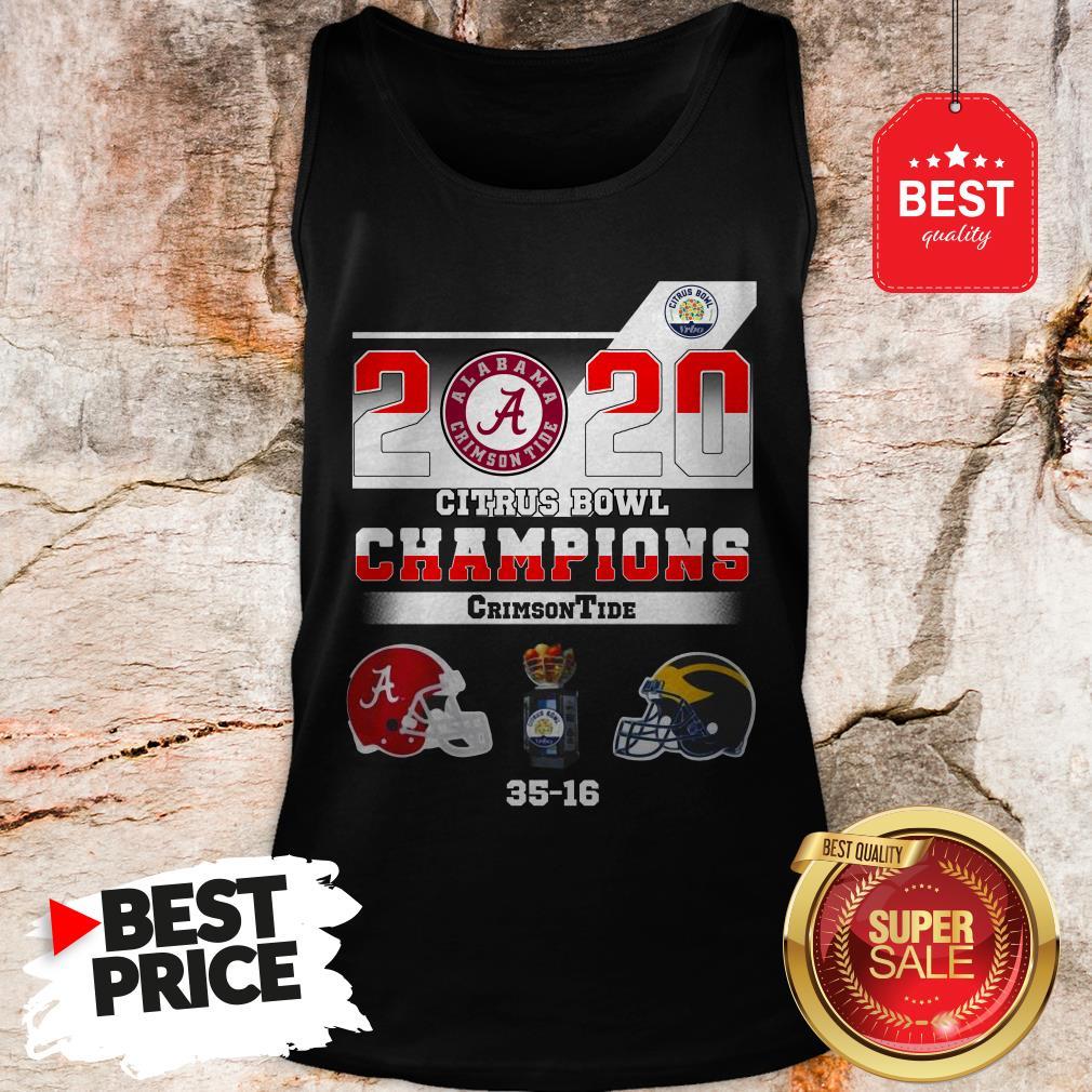Alabama 2020 Citrus Bowl Champions Crimson Tide 35 16 Tank Top