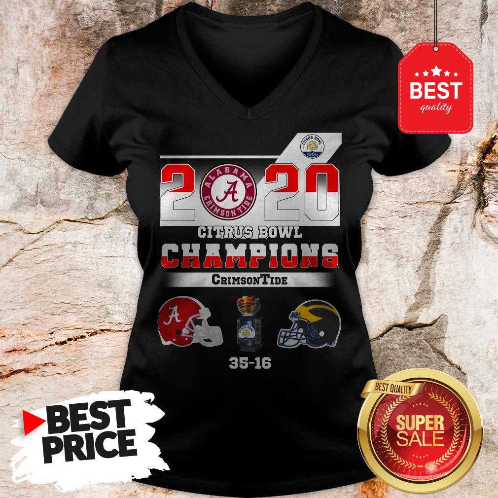 Alabama 2020 Citrus Bowl Champions Crimson Tide 35 16 V-Neck