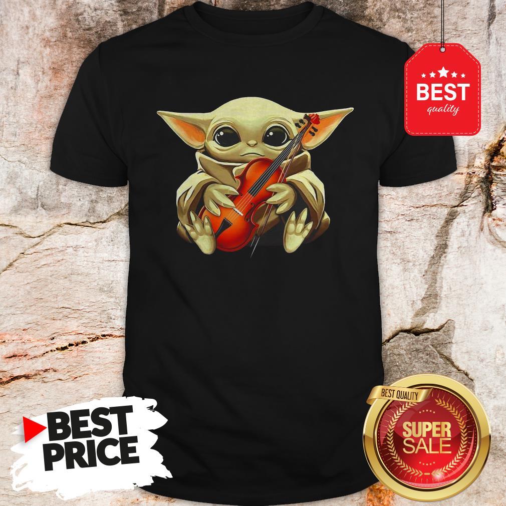 Beautiful Baby Yoda Hug Violin Shirt