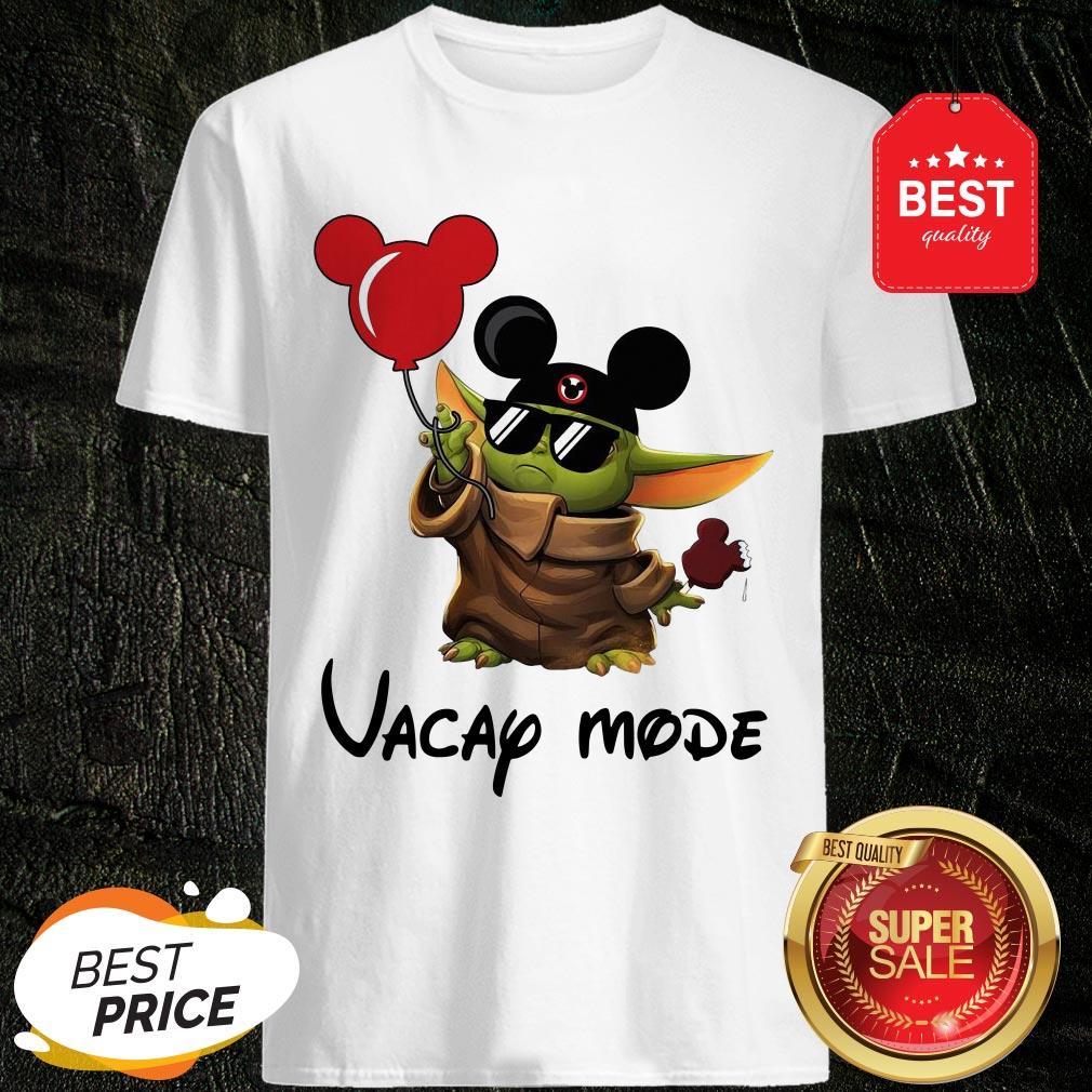 Beautiful Baby Yoda Vacay Mode Shirt