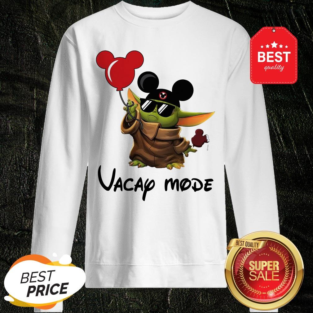 Beautiful Baby Yoda Vacay Mode Sweatshirt