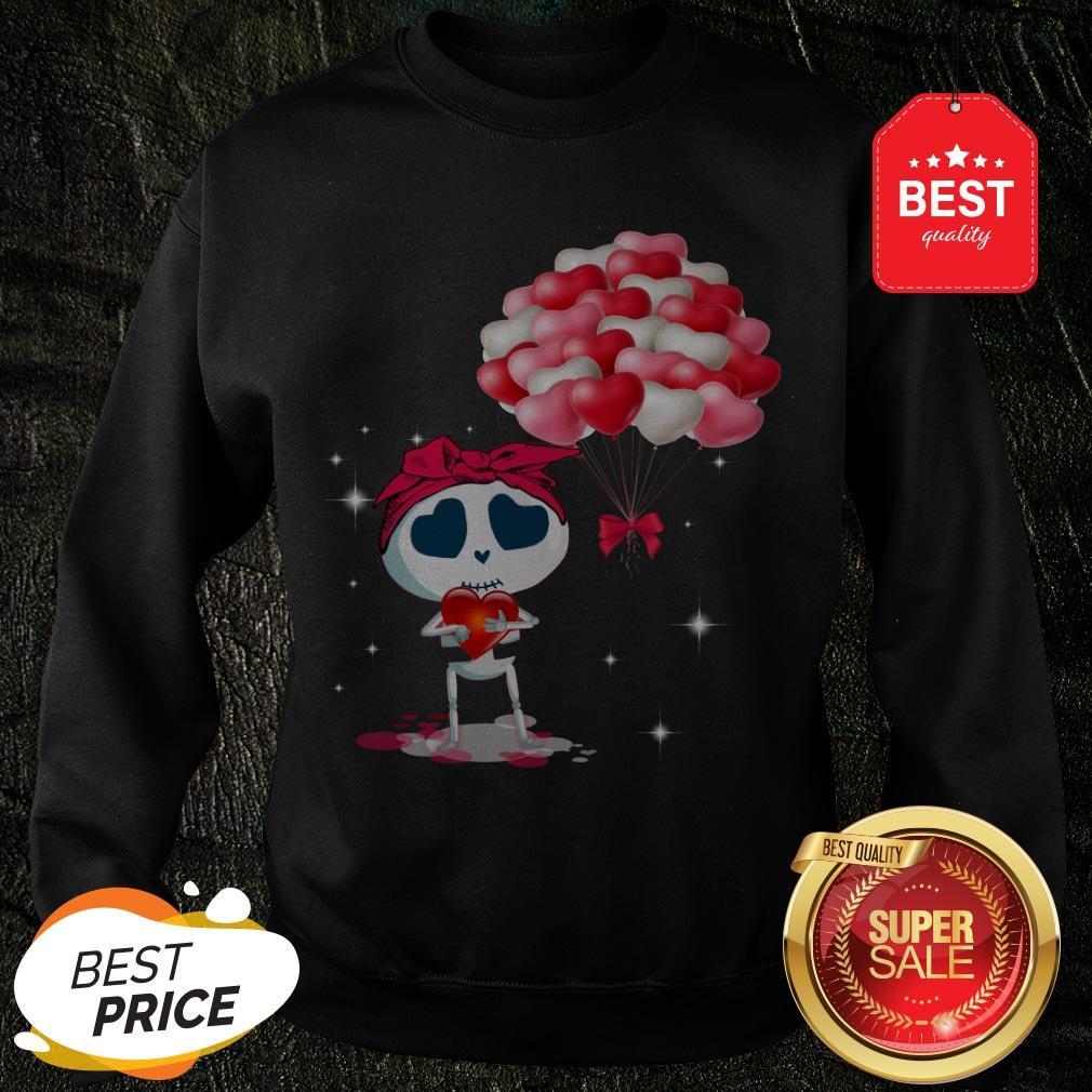 Beautiful Hearts Skull Valentine Sweatshirt
