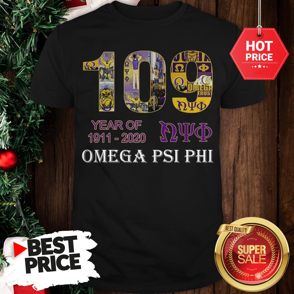 Official 109 Years Of Nyo 1911 2020 Omega PSI PHI Shirt