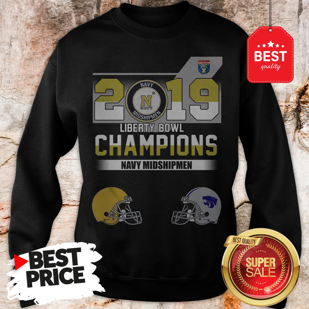 Official 2019 Liberty Bowl Champions Navy Midshipmen Sweatshirt