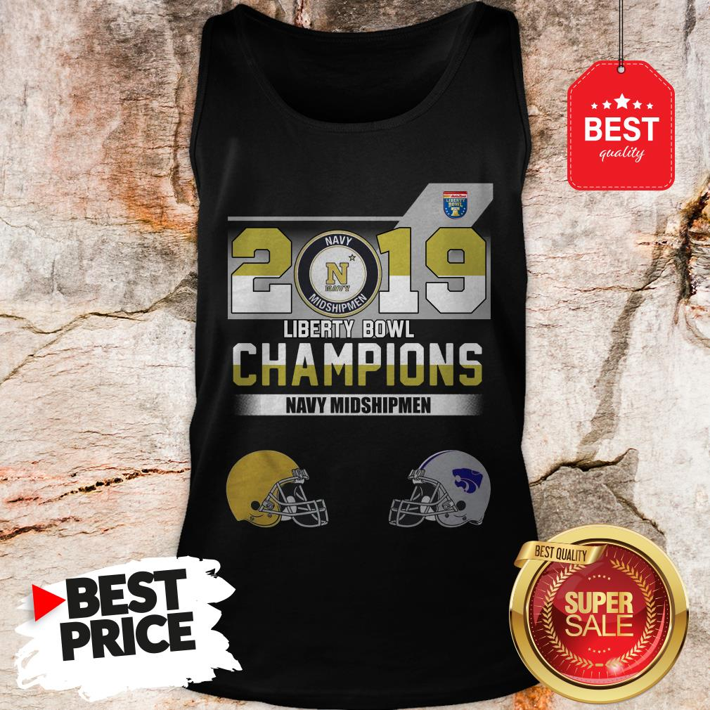 Official 2019 Liberty Bowl Champions Navy Midshipmen Tank Top