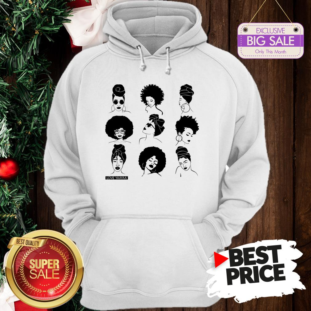 Official Afro And Headwrap Ladies Afrocentric Love Yaayaa Hoodie