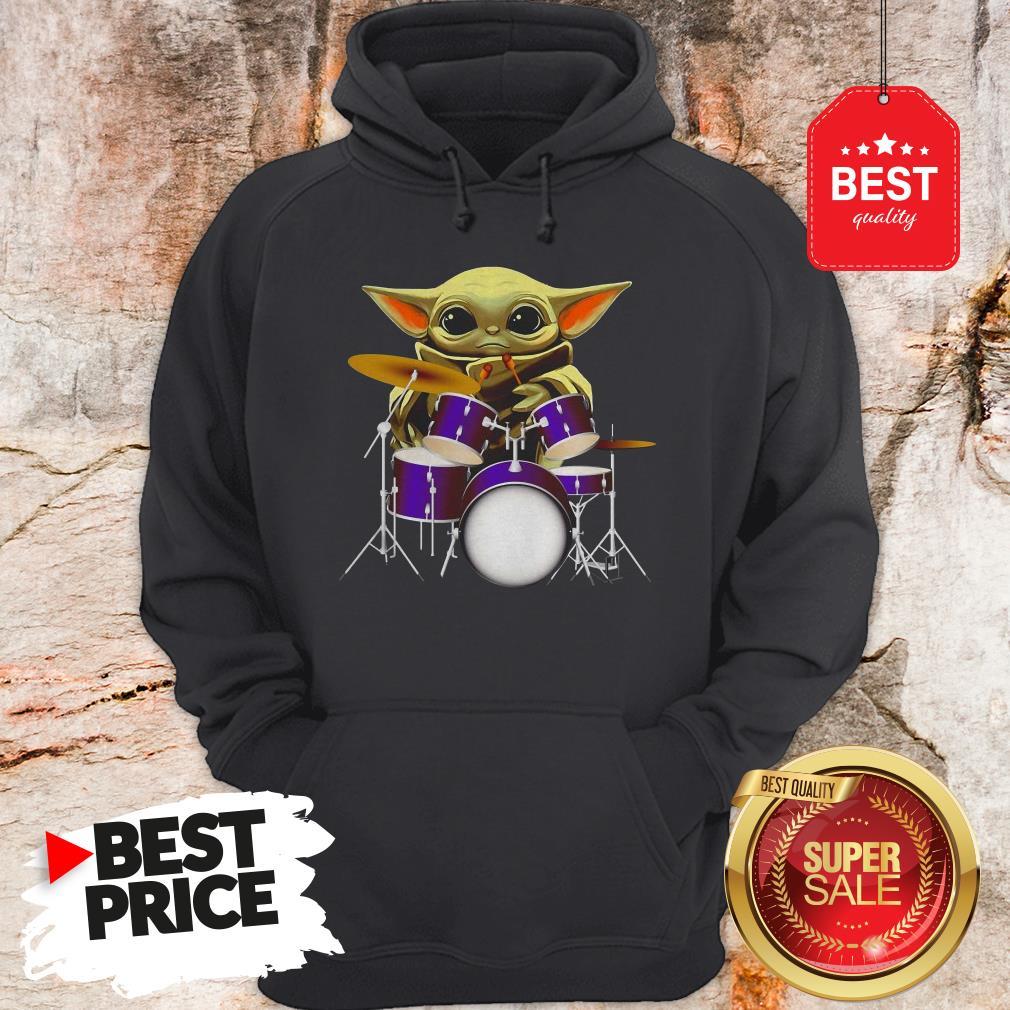 Official Baby Yoda Hug Drum Hoodie