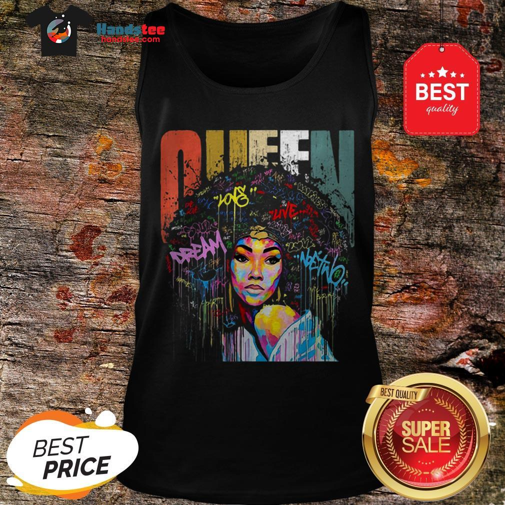 Official Black Women Queen Vintage Colorful Tank Top