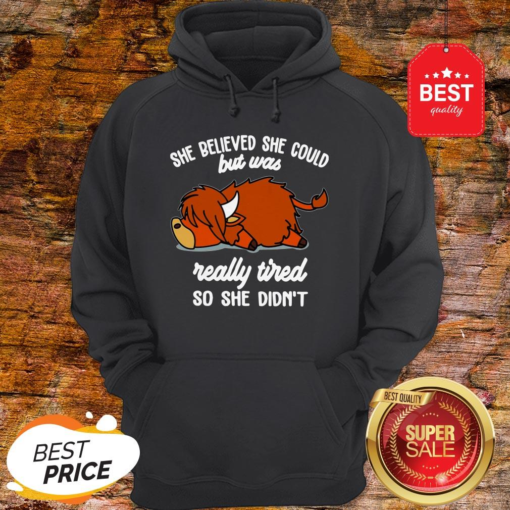 Official She Believed She Could But Was Really Tired So She Didn't Hoodie