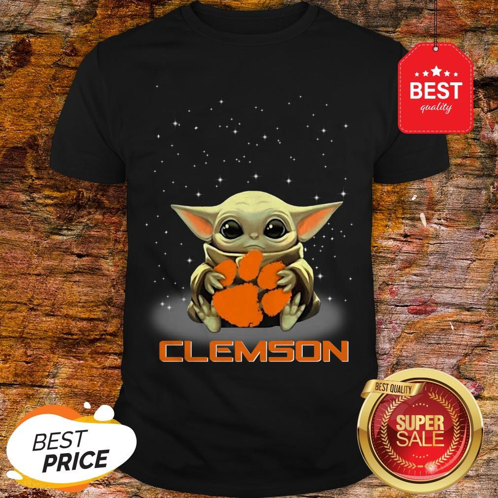 Official The Star Wars Baby Yoda Hug Clemson Tigers Shirt