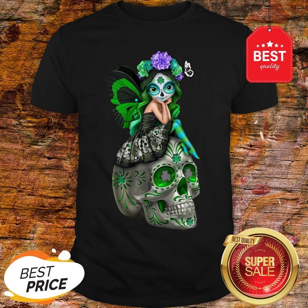 Wonderful Sugar Skull Sitting Patrick Shirt