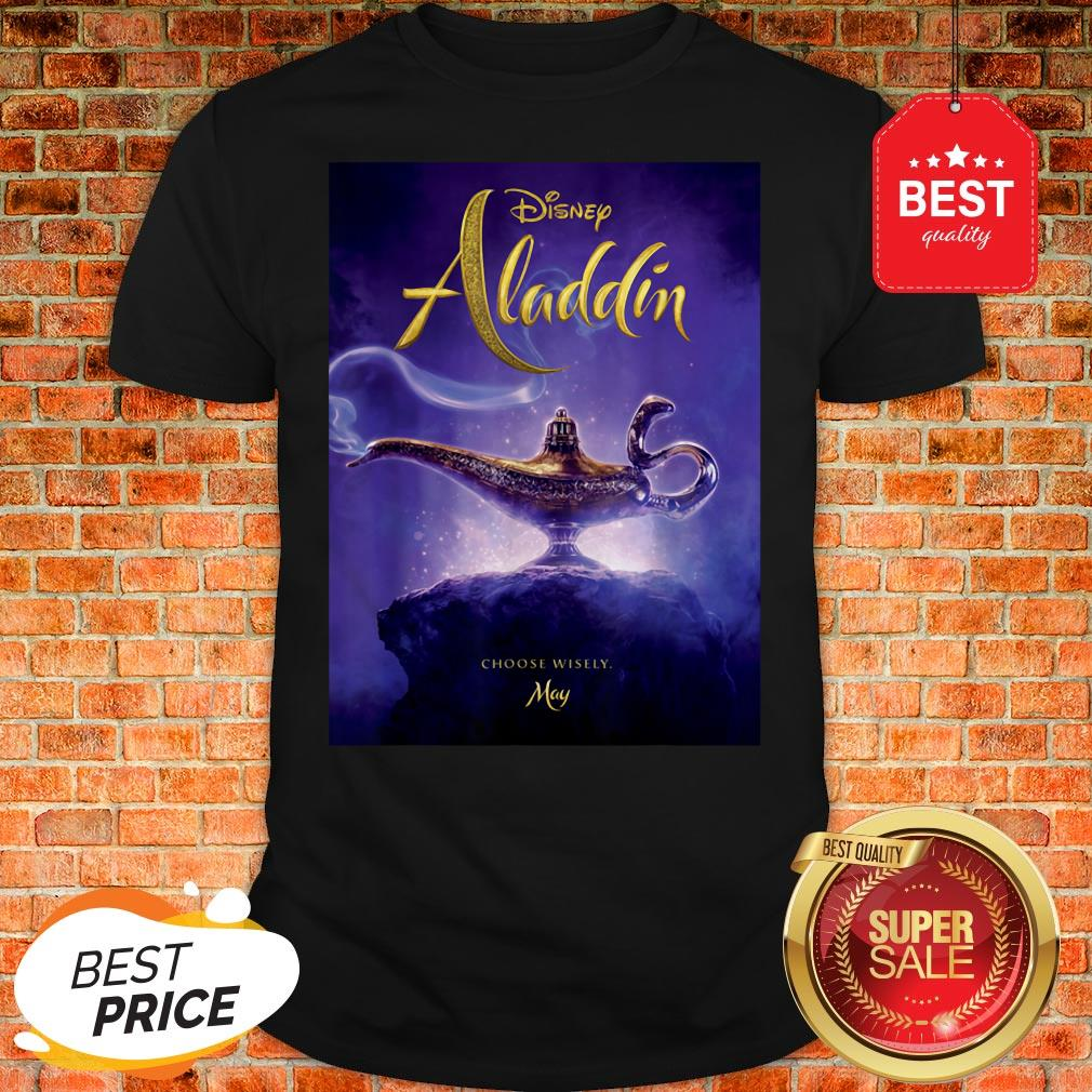 Official Disney Aladdin Live Action Release Date Poster Shirt