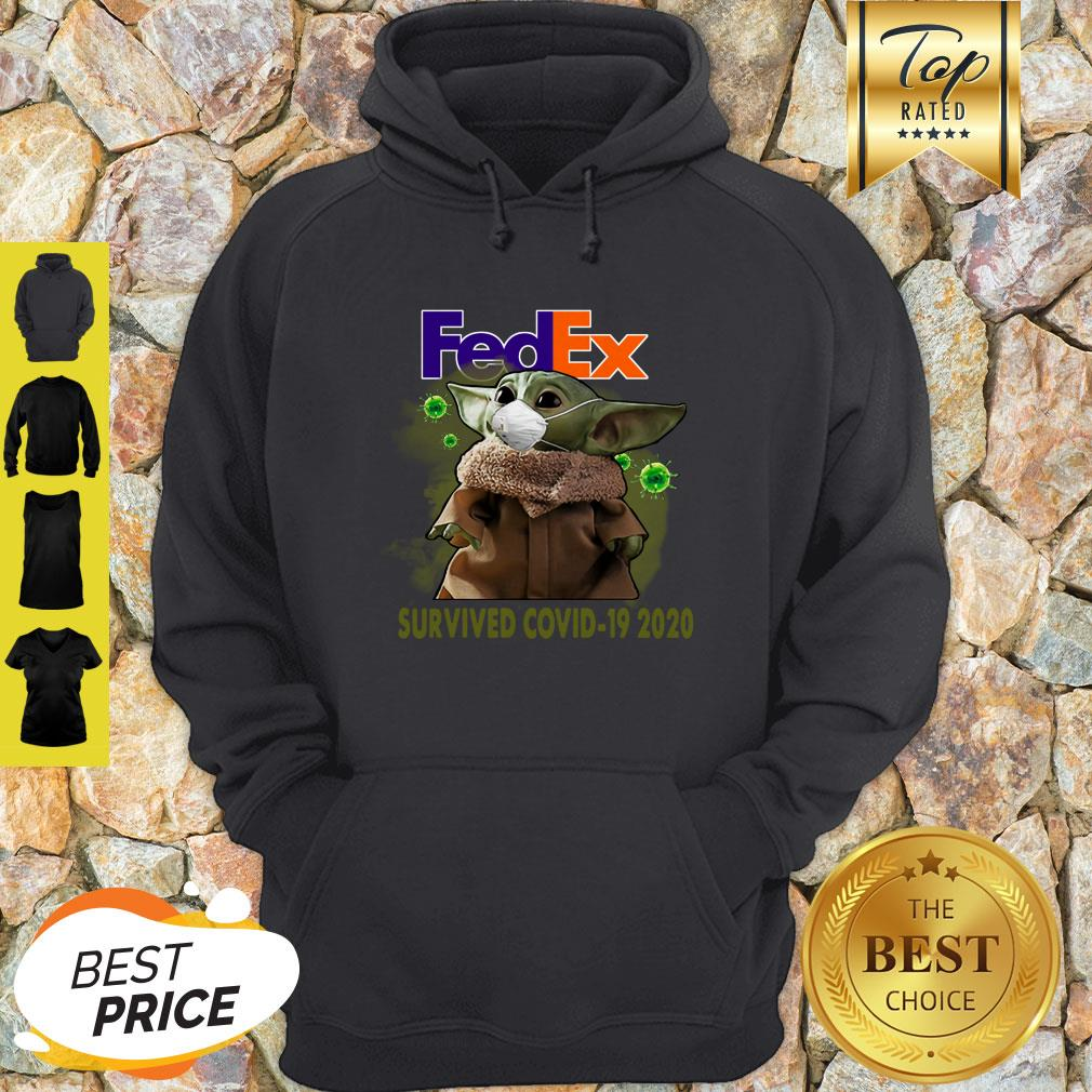Official Baby Yoda FedEx Survived Covid 19 2020 Hoodie