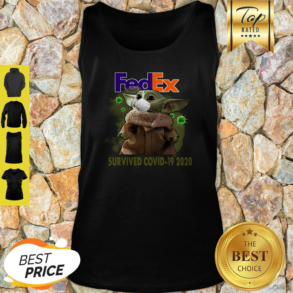 Official Baby Yoda FedEx Survived Covid 19 2020 Tank Top