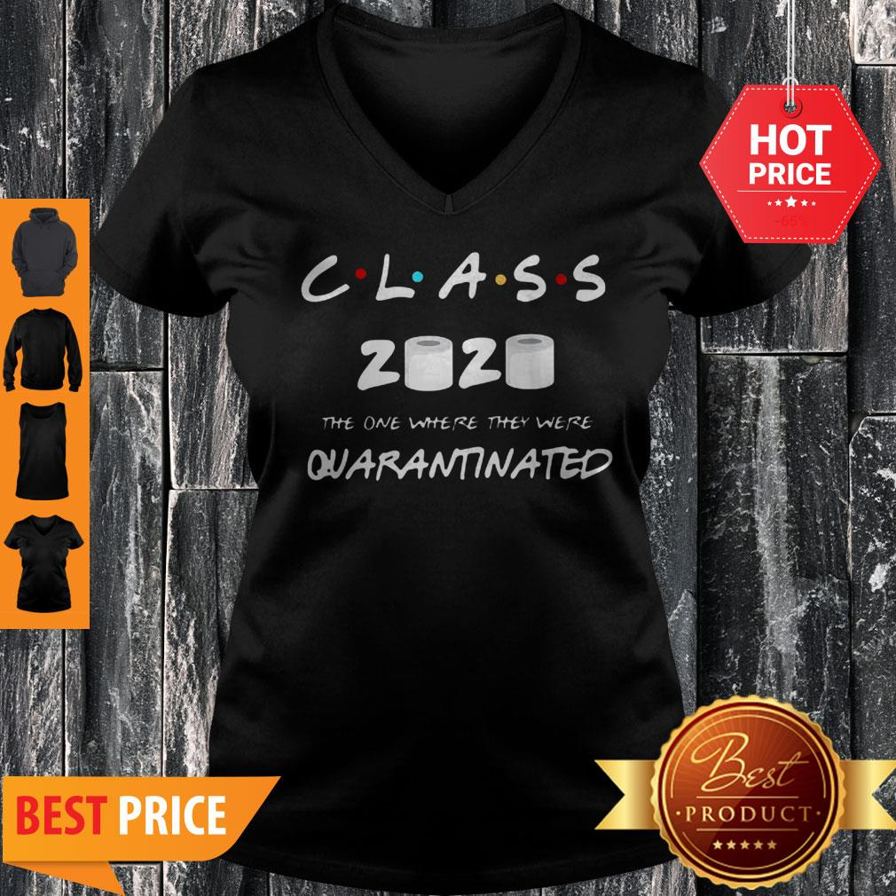 Official Class Of 2020 Quarantine Toilet Paper V-Neck