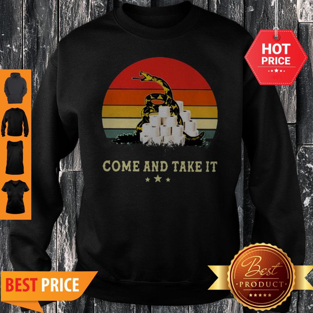 Gadsden Flag Come And Take It Toilet Paper Vintage Sweatshirt