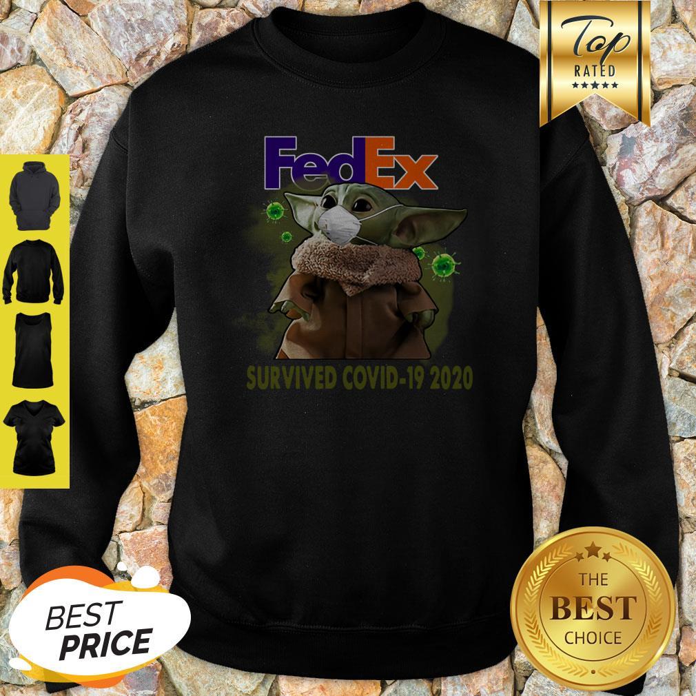 Official Baby Yoda FedEx Survived Covid 19 2020 Sweatshirt