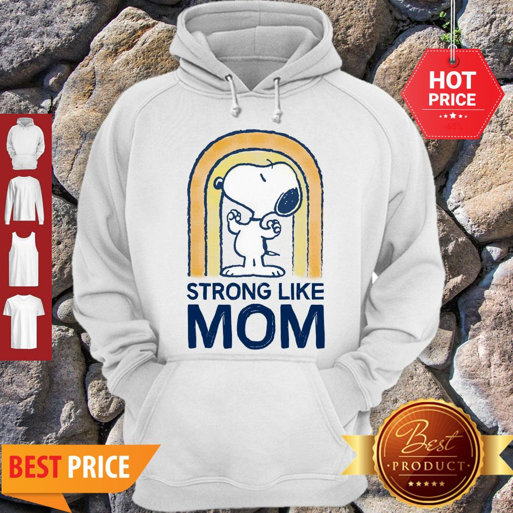 Nice Peanut's Mother's Day Strong Snoopy Hoodie