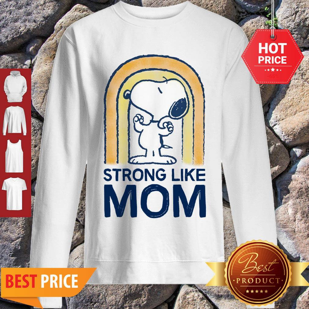 Nice Peanut's Mother's Day Strong Snoopy Sweatshirt