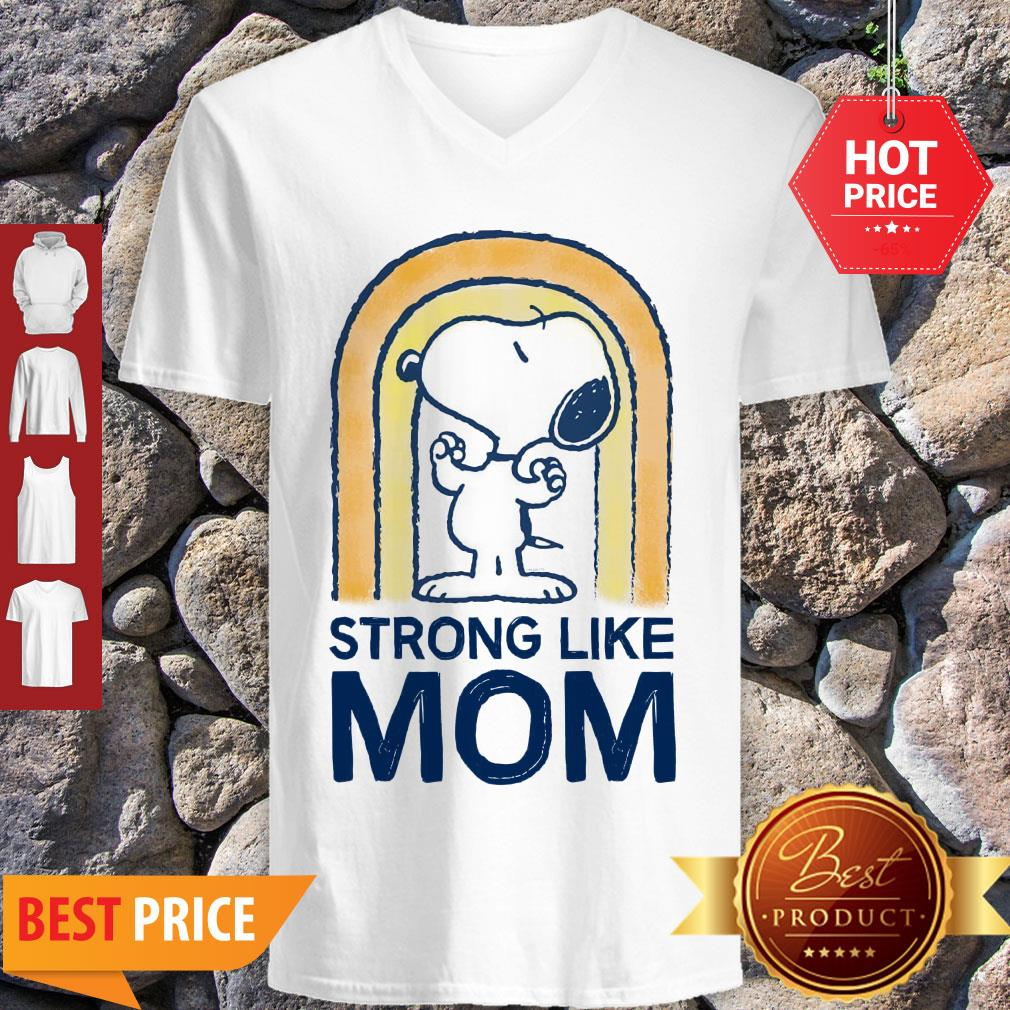 Nice Peanut's Mother's Day Strong Snoopy V-neck