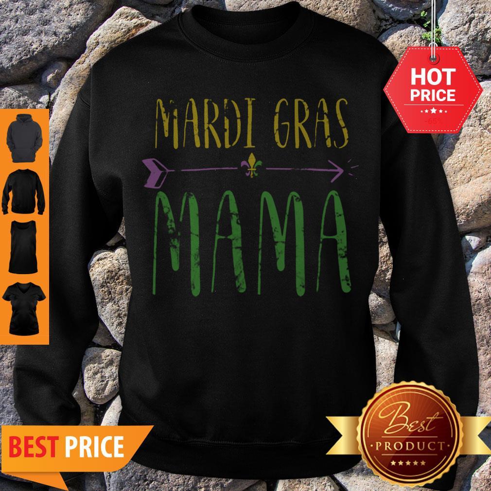 Original Mardi Gras Mama Funny New Orleans Vintage Sweatshirt