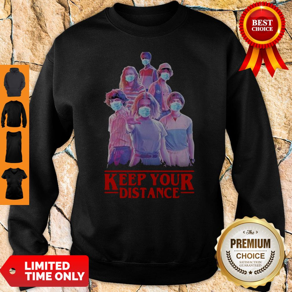 Strangerthings Eleven Mike Will Max Dustin Lucas Season Keep Your Distance COVID-19 Sweatshirt