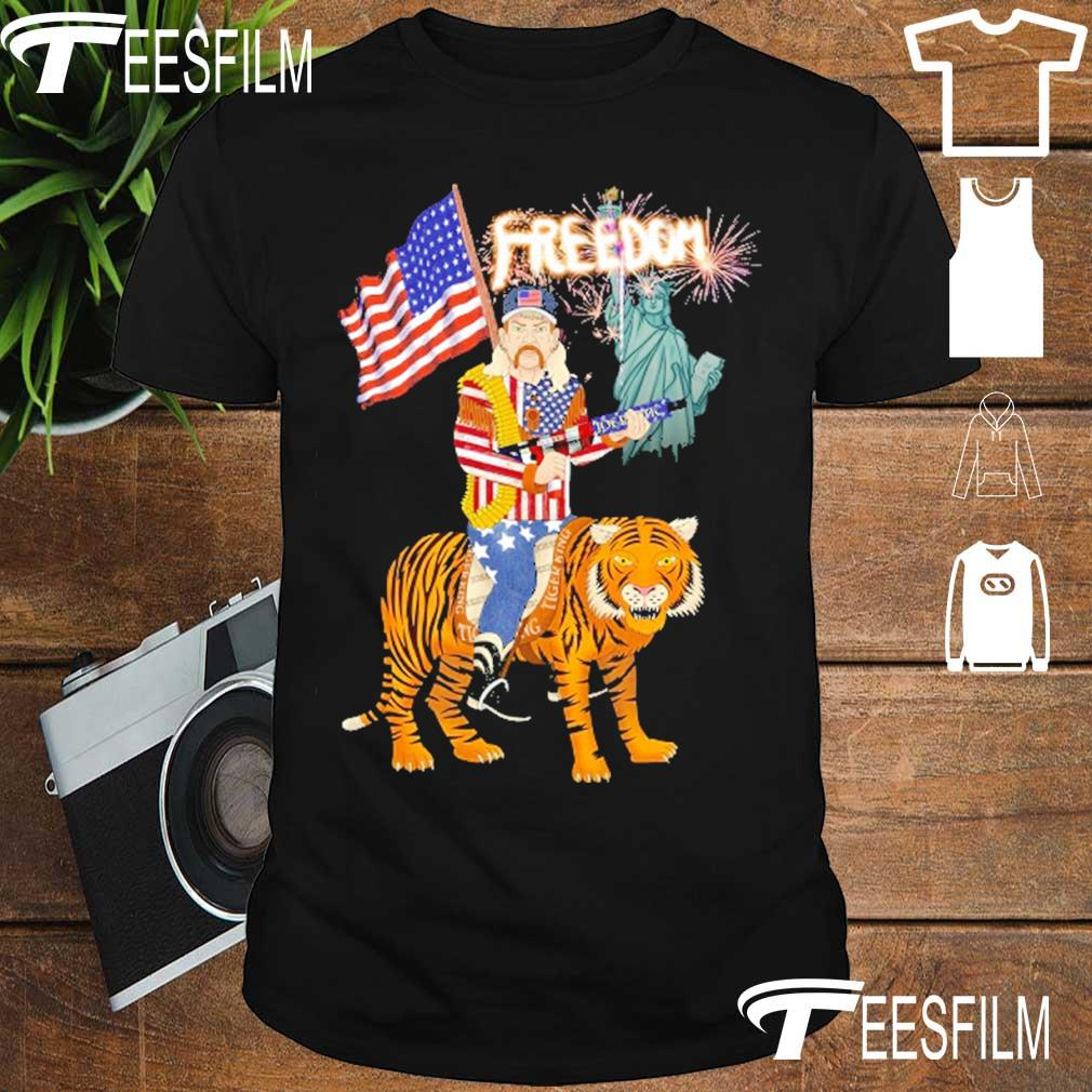 Joe Exotic tiger king freedom american Flag Day shirt