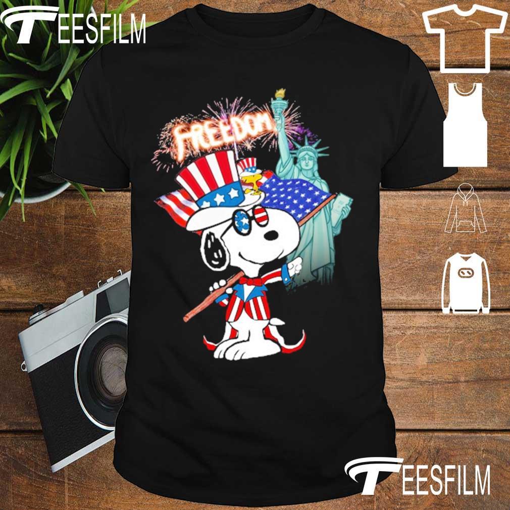 Snoopy Flag Day freedom shirt